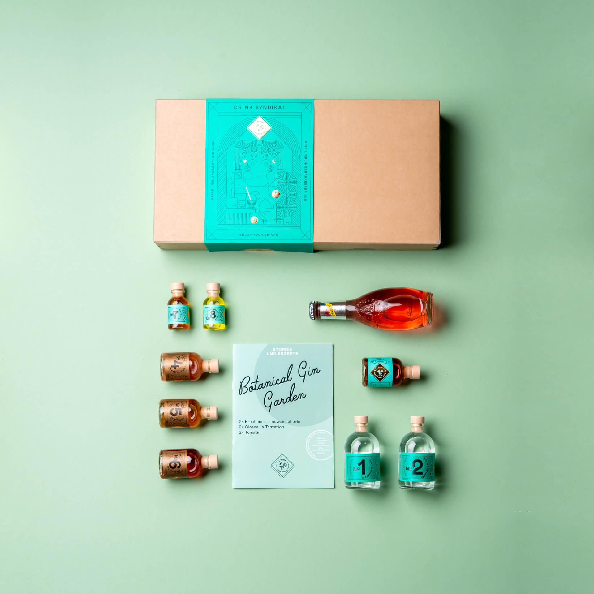 Gin Cocktail Box: Botanical Gin Garden Drink Syndikat Cocktail Set