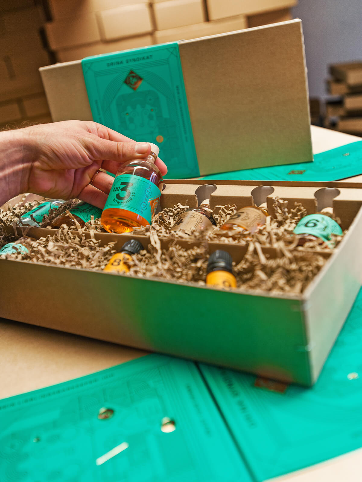 Drink Syndikat Cocktail Boxen verpackt in Berlin
