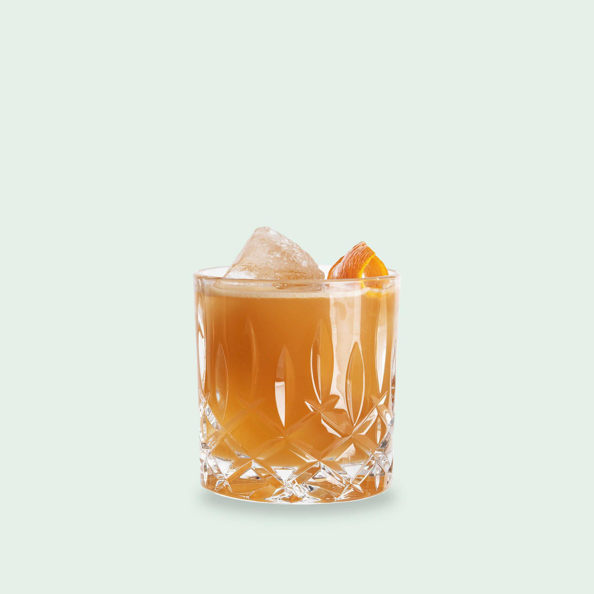 Australian Date Whisky Sour Cocktail mit Whisky und Portwein