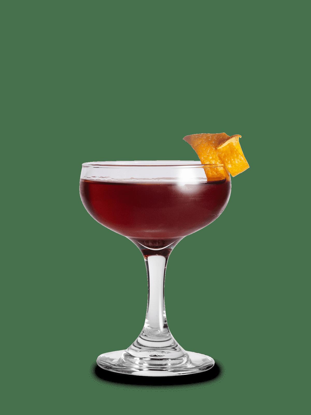 Martinez Cocktail mit Zedernholz gesmoked