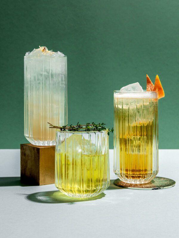 Drink Syndikat Cocktail Box mit Zutaten und Rezepten für französische Cocktails